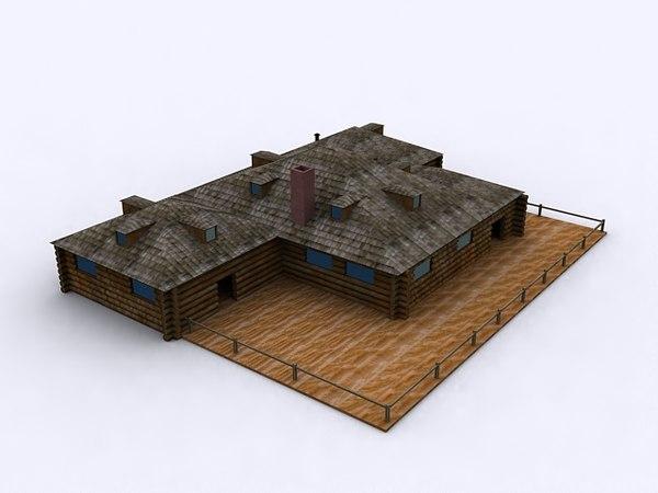 house cabin 3D