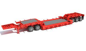 lowboy trailer model
