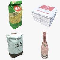 3D model food packaging