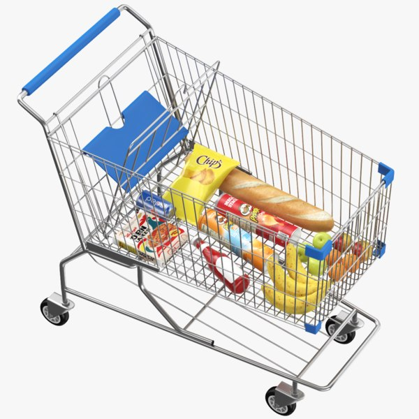 3D real shopping cart