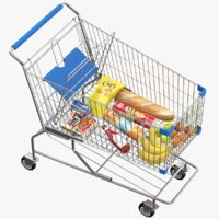 3D real shopping cart