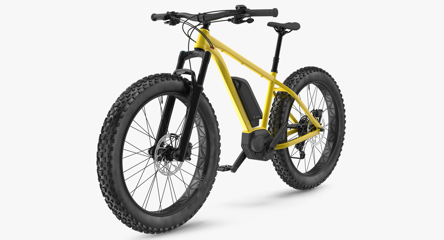 3D electric fat bike generic model