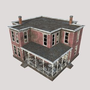 ruined house games buildings 3D