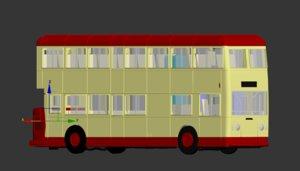3D hong kong bus