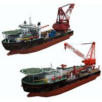 crane ships 3D model