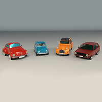 Low Poly City Car Pack