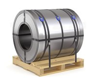 Steel Coil and Wooden Pallet