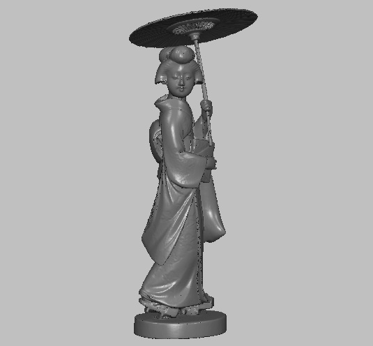 miniature geicha ivory 3D model