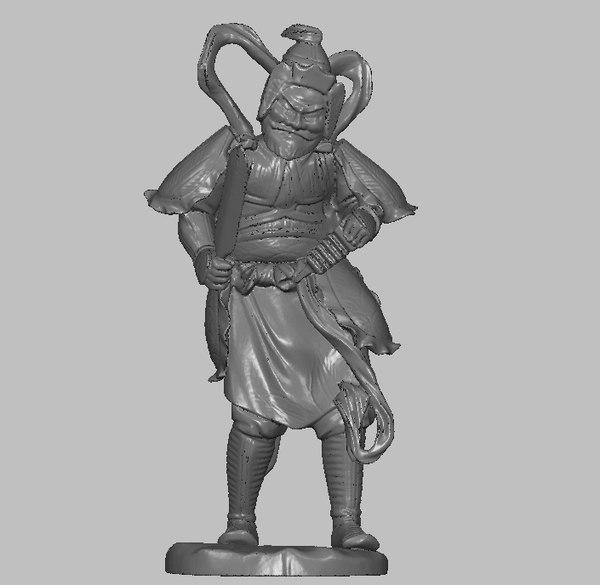 japanese samurai figurine 3D model