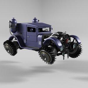 3D steampunk car