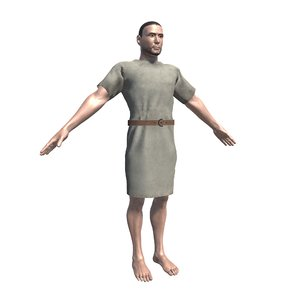 3D citizen tunic roman