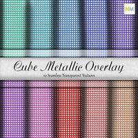Cube Metallic Overlay Seamless Textures