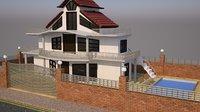 modern exterior 3D