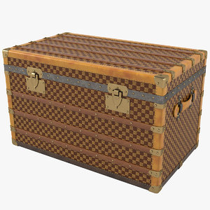moynat steamer trunk 1917 3D model