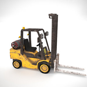 3D forklift gameready ready