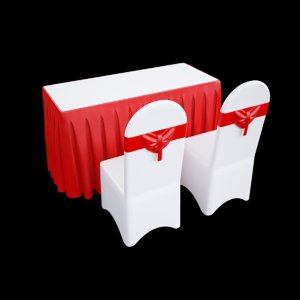 event tables chairs 3D