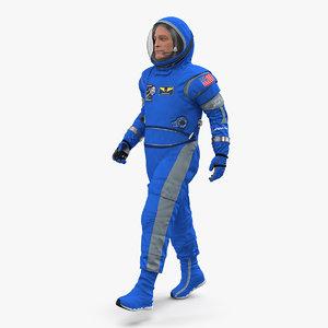 3D nasa astronaut boeing spacesuit model
