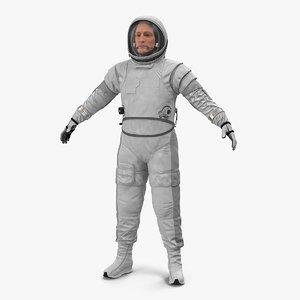 astronaut spacesuit space helmet 3D model