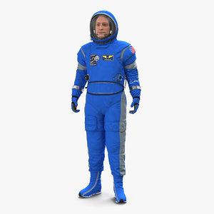 boeing spacesuit astronaut standing 3D