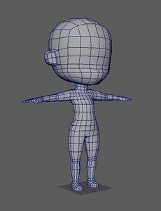 3D chibi basemodel model