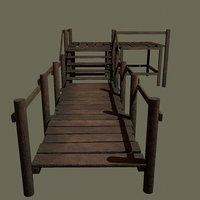3D wooden modular dock