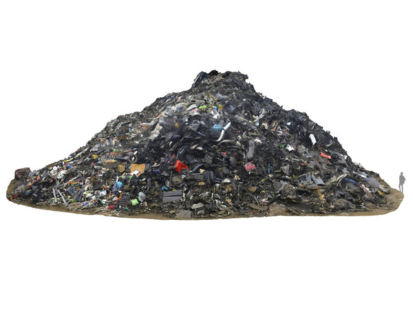 industrial garbage heap 3D