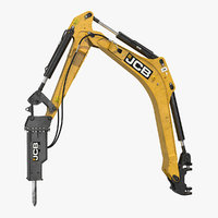 3D arm hm012t breaker rigged model