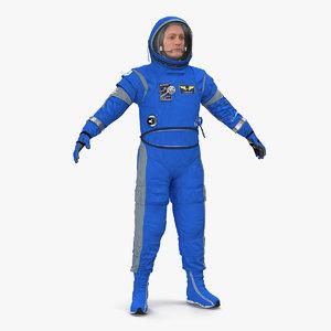 3D astronaut boeing spacesuit space suit