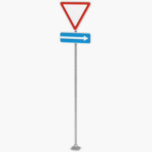 traffic sign way 2 3D
