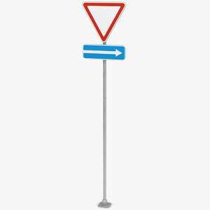 traffic sign way 2 3D