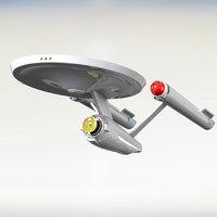 starship enterpris ncc-1701 3D model