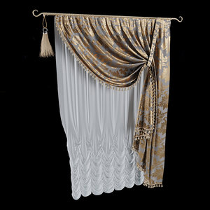 3D classical curtain