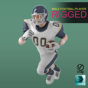 3D football player rigging