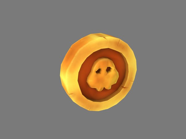 ancient gold coin 3D model