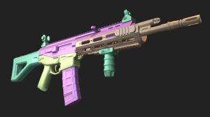 3D model acr assault rifle