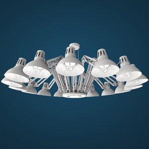 modeled lamps interior model