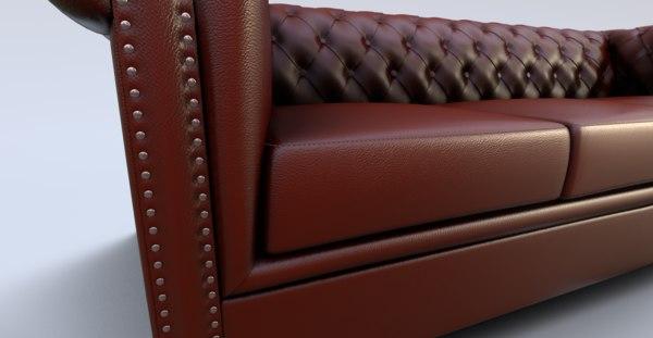 3D blender sofa model