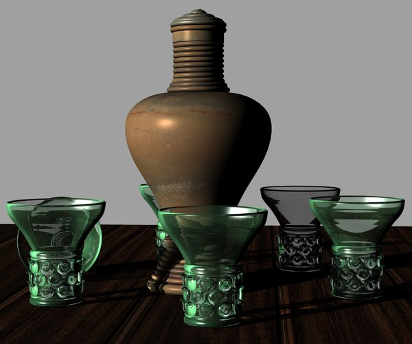 17th century dutch drink 3D model