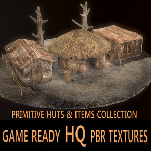 3D model hut pbr ready