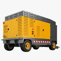 portable compressor diesel 3D