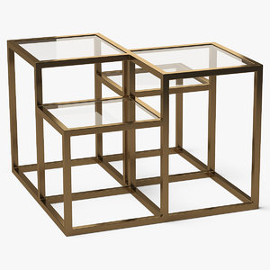square end table metal model