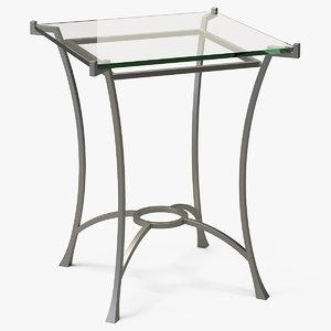 3D square end table metal model