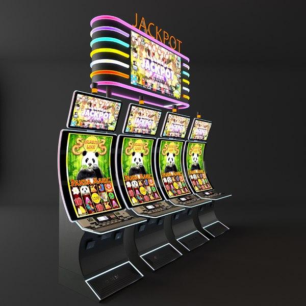 money slot machine casino 3D model