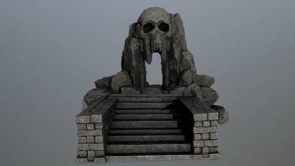 skull cave model