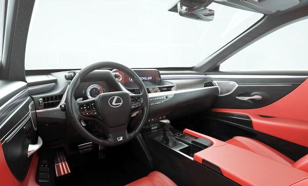 lexus car interior 3D model