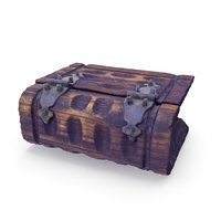 Book Chest Box - 05 Low and High Poly Versions