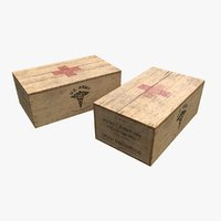US First Aids Wooden Boxes WWII