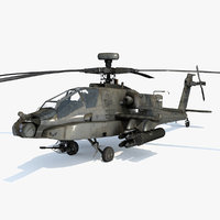 AH-64D Apache Longbow Low Poly
