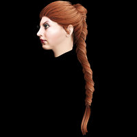 3D female hairstyle
