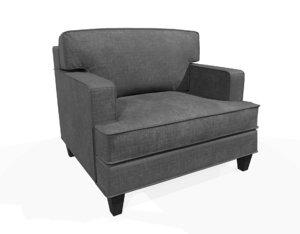 bacchus chair pbr 3D model